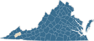 Map of Russell County